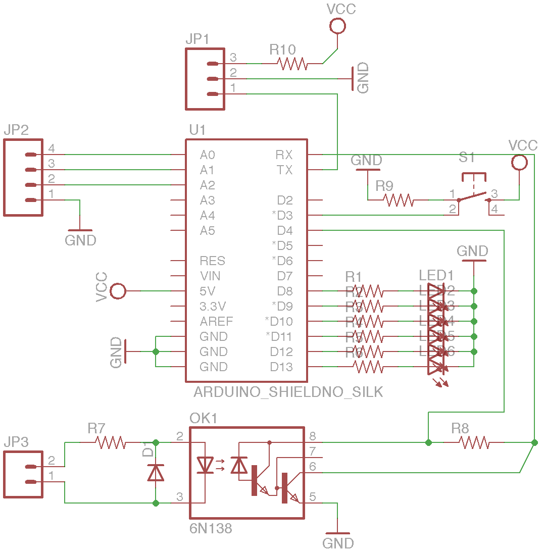 Arduinoboy eagle schematic